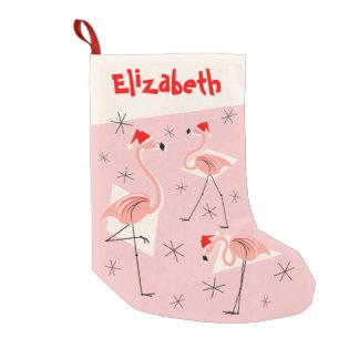 Flamingo-Sanktrosa NamensStrumpf Kleiner Weihnachtsstrumpf