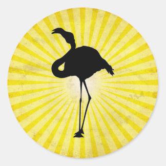 Flamingo-Silhouette Aufkleber