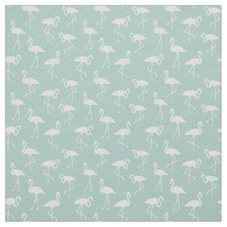 Flamingo-Silhouetten, Muster der Flamingos - Blau Stoff