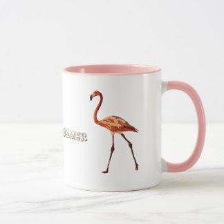 Flamingo-Sommer-Stimmungs-Wecker kombiniertes Tasse