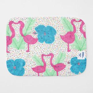 Flamingo-Spaß-tropisches Muster Spucktuch