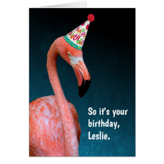 Flamingo-spezielles alles Gute zum Geburtstag Karte