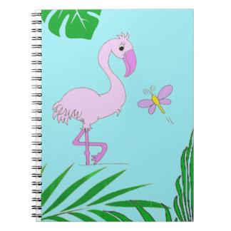 Flamingo Spiral Notizblock