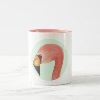 Flamingo-Tasse Zweifarbige Tasse