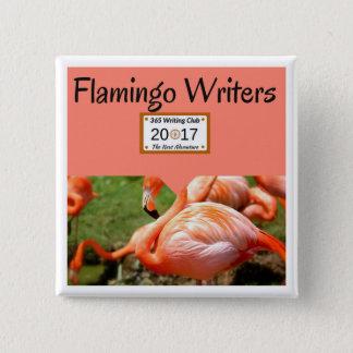 Flamingo-Team-Knopf! Quadratischer Button 5,1 Cm