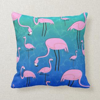 Flamingo-Teich Kissen