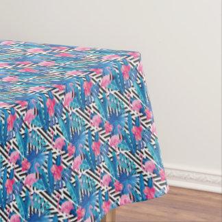 Flamingo u. Palmen auf geometrischem Muster Tischdecke