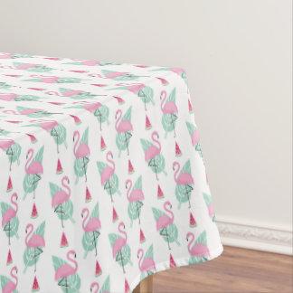 Flamingo-u. Wassermelone-Pastell-Muster Tischdecke