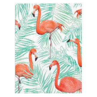 Flamingo-und Minzen-Palme Tischdecke
