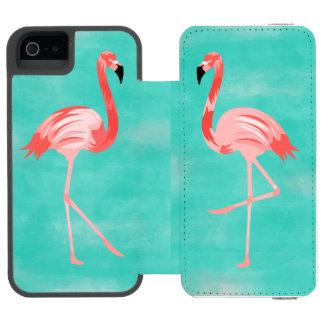 Flamingo-Vogel Incipio Watson™ iPhone 5 Geldbörsen Hülle
