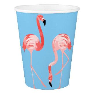 Flamingo-Vögel Pappbecher