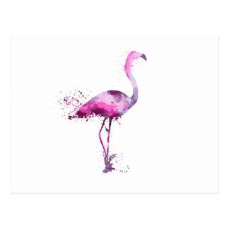 Flamingo-Wand-Kunst-Rosa-Druck-Plakat Postkarte