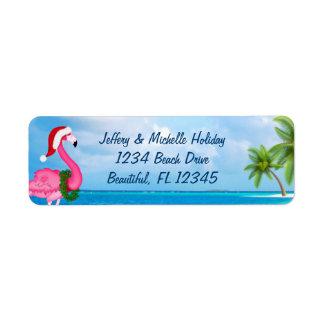 Flamingo-Weihnachtsstrand-Adresse Sankt rosa