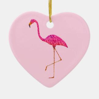 Flamingo-Weihnachtsverzierung Keramik Ornament