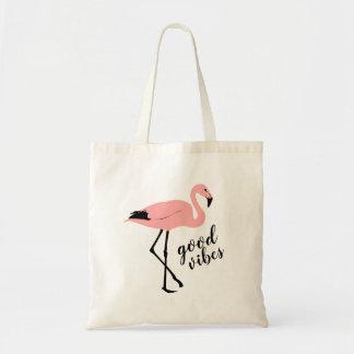 Flamingogutes Vibes-Rosa-Schwarz-niedliche Tragetasche