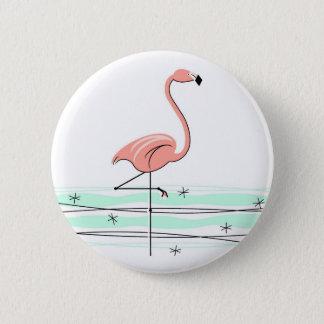 Flamingoknopf Runder Button 5,1 Cm
