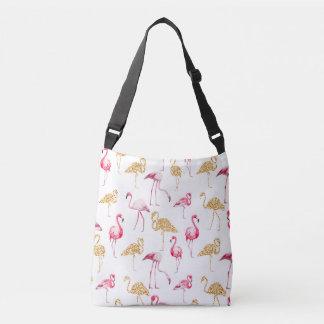 Flamingos auf weißem Hintergrund Tragetaschen Mit Langen Trägern