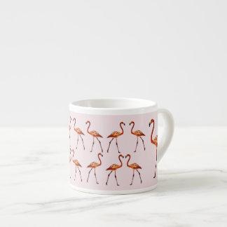 Flamingos, die Espresso-Tasse zeichnen Espressotasse