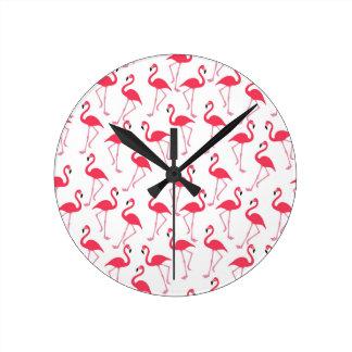 Flamingos Flimingos Runde Wanduhr