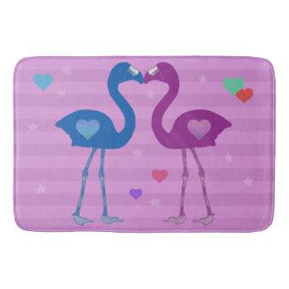 """""""Flamingos in der Liebe"""" Bad-Matte (blau/Pnk/Pnk) Badematte"""