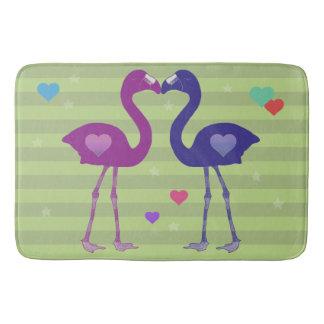"""""""Flamingos in der Liebe"""" Bad-Matte (Pnk/Prp/Grn) Badematte"""