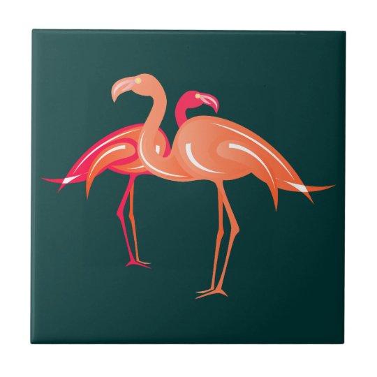 Flamingos Keramikfliese