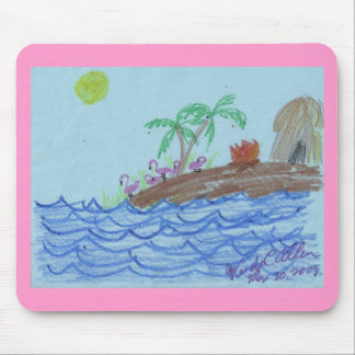 Flamingos nachts mousepad