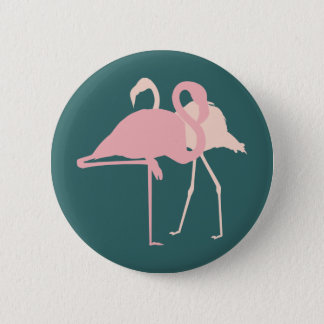 Flamingos Runder Button 5,7 Cm