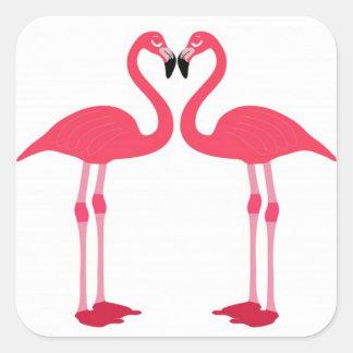 Flamingovögel Quadratischer Aufkleber