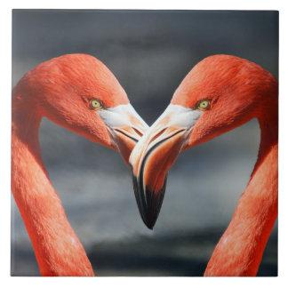Flamingovogelpaare Keramikfliese