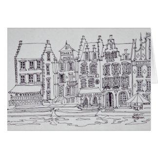 Flämische Architektur-Ufergegend, Gent, Belgien Karte