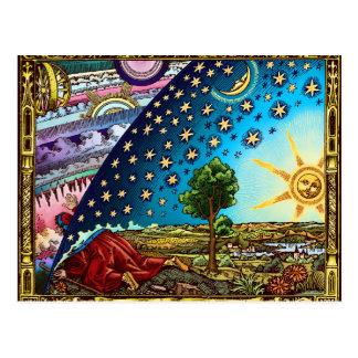 Flammarion Hauben-Postkarte! Postkarte