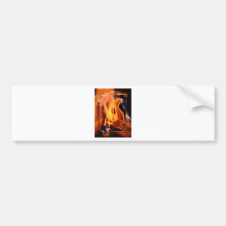 Flamme-Fokus Autoaufkleber