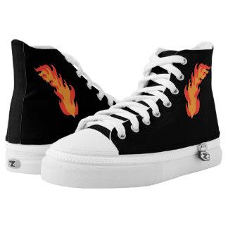 Flamme Hoch-geschnittene Sneaker