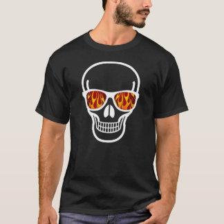Flamme-mit Augen Geek-Schädel-Shirt T-Shirt
