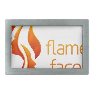 Flamme stellt Konzept gegenüber Rechteckige Gürtelschnalle