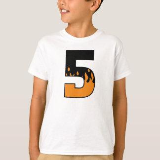 Flammen 5 Geburtstags-T - Shirt