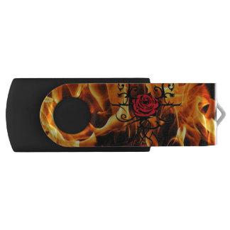 Flammen der Liebe-Rose USB Stick
