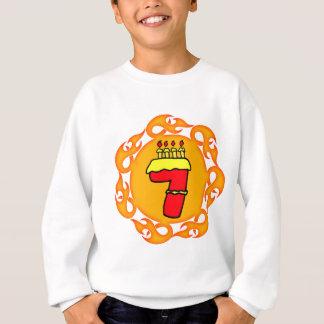Flammen von sieben 7. Geburtstags-Geschenken Sweatshirt