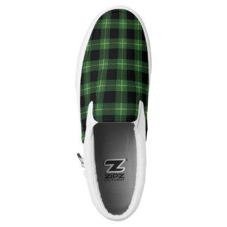 Flanell-grüner Büffel-karierter Muster-Fall-Herbst Slip-On Sneaker