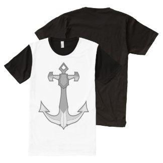 flanell verankert original T-Shirt mit komplett bedruckbarer vorderseite
