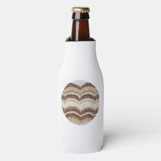 Flasche cooler mit beige Mosaik Flaschenkühler