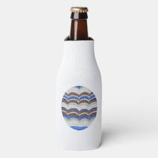 Flasche cooler mit blauem Mosaik Flaschenkühler