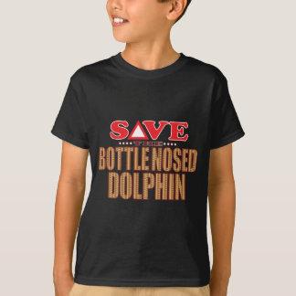Flasche gerochener Delphin retten T-Shirt