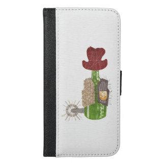Flaschen-Cowboy IPhone 6/6s plus Geldbörsen-Kasten iPhone 6/6s Plus Geldbeutel Hülle