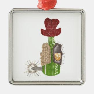 Flaschen-Cowboy-Prämien-Verzierung Silbernes Ornament