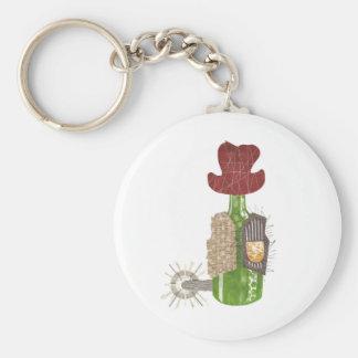Flaschen-Cowboy-Schlüsselring Schlüsselanhänger