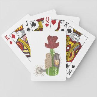 Flaschen-Cowboy-Spielkarten Spielkarten