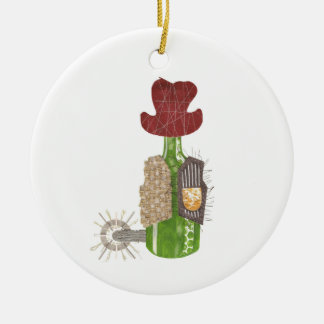 Flaschen-Cowboy-Verzierung Keramik Ornament
