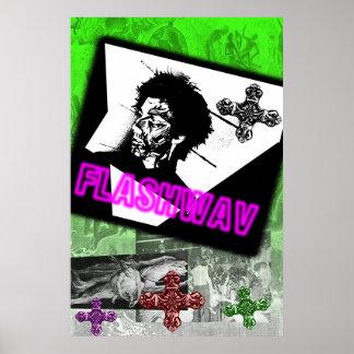 Flashwav Punk-Plakat Poster